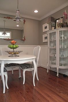 Traditional Dining Design Ideas, Pictures, Remodel and Decor. I'd like this set in the kitchen somewhere or a breakfast nook area off the kitchen for casual dining