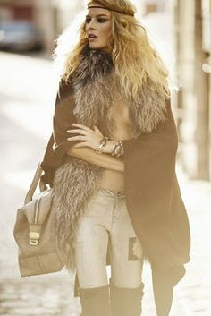 FIERCE Boho Shoot with Cristina Tosio in Elle Spain