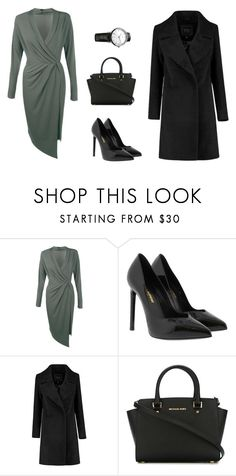 """""""Elegance"""" by lalaline ❤ liked on Polyvore featuring Boohoo, Yves Saint Laurent, MICHAEL Michael Kors, Maurice Lacroix, outfit, look and classy"""