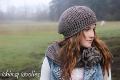 Beret CROCHET HAT PATTERN: 'Ciao Bella Beret & by whimsywoolies