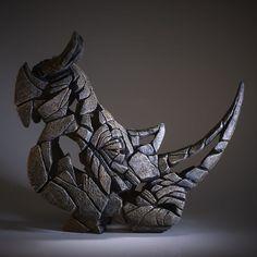 Matt Buckley animal masks - This is not art , Animal Sculptures, Sculpture Art, Metal Art, Wood Art, Rhino Tattoo, Rhino Art, Animal Masks, Contemporary Sculpture, Ceramic Artists