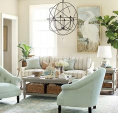 The living room colors always become a prime factor when it comes to the treatment of the mood or atmosphere that is exuded within the premises. Would you be comfortable when your living room colors are too loud or too Coastal Living Rooms, Home Living Room, Living Room Designs, Living Room Decor, Living Spaces, Dining Room, Flur Design, Family Room Design, Traditional Decor