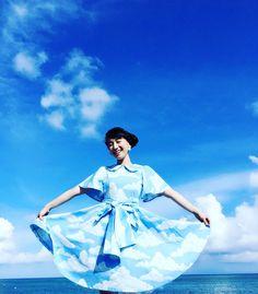 石垣コレクション☆晴れを願って青空ワンピース☆空ンチュです♪*・゜・*:.。..。.:* #南の島の星まつり
