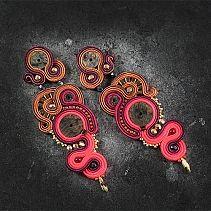 Soutache Earrings, Jewerly, Floral, Handmade, Inspiration, Macrame, Beads, Fashion, Amor