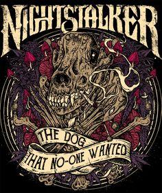 T-Shirt Artwork for the Greek Legendary Stoner band Nightstalker Dark House, Rock Music, Gifts For Him, Screen Printing, Shirt Designs, Funny Quotes, Behance, Metal, Rock