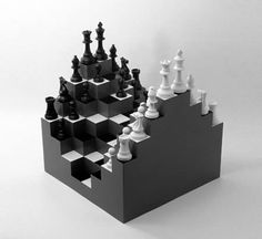 This is a unique chessboard which comes with 3D terrain. Thanks to this different design, it will make you have a better chess experience, just like in the real battlefield, maybe.