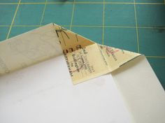 Stab Bound journal tutorial - fold in corners, not cut! Wonder if this a special thing for thinner paper or sth