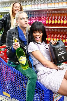 Rihanna, Joan Smalls & Cara Delevingne