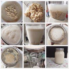 Agua de avena: 1 taza de avena, 1 cdta de esencia de vainilla, 6-8 tazas de agua, 1 cdta de canela en polvo, stevia, hielo.