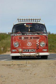 VW Camper van in Newquay by joelhughes, via Flickr