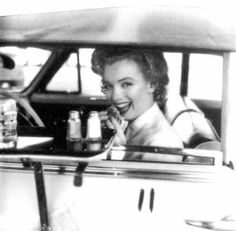 Marilyn Monroe occasionally even had a burger at a Hollywood Drive-In