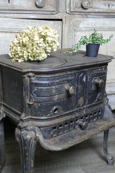 French antique cooking stove