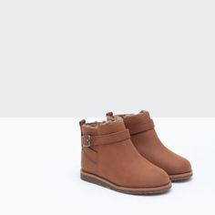 Image 5 of LINED ANKLE BOOTS WITH BUCKLE from Zara