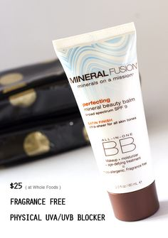 Mineral Fusion BB Cream Review, organic, physical sunscreen, available at  Whole Foods