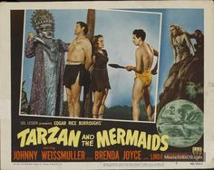 Tarzan and the Mermaids lobby card