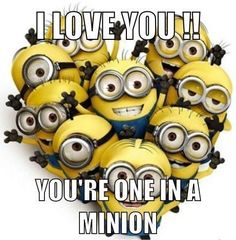 I Love You Minions Quote