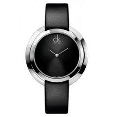 e4148d597ef Montre Femme Calvin Klein Ck Aggregate Bracelet Cuir Noir K3U231C1  fossil   montres  montre