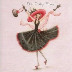 """Cards """"It's Party Time"""" - Berni Parker Designs ღ✟ Birthday Cards For Women, Birthday Images, Happy Birthday Wishes, Birthday Greetings, Happy Brithday, Facebook Birthday, Happy B Day, Illustrations, Funny Cards"""