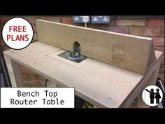 DIY: Make Simple Router Table With Adjustable Fence Steps) Best Router Table, Wood Router Table, Homemade Router Table, Best Wood Router, Build A Router Table, Benchtop Router Table, Homemade Tables, Diy Projects Plans, Woodworking Projects That Sell