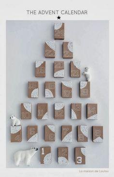 Quelques  idées de calendriers de l'avent. #advent calendar