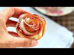 Rose di mela con pasta sfoglia - Chiarapassion - YouTube