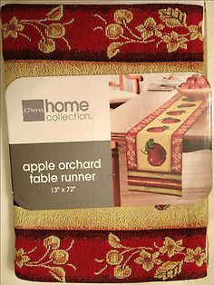"""Table Runner Tapestry JCPenney Home Collection Apple Orchard Country 13"""" x 72"""""""