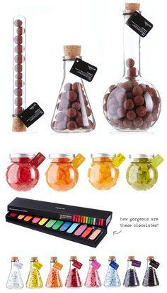 ¿Qué tal reglar dulces en recipientes de laboratorio? genial. #IdeasRegalosDulces