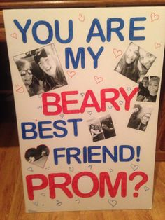 Best ways to ask a friend to prom. #promposal #bestie