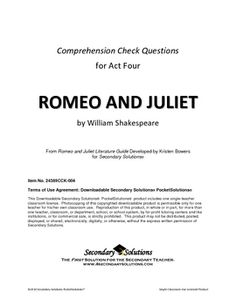 romeo and juliet act 4 study guide essay A summary of act 4, scenes 1–2 in william shakespeare's romeo and juliet   perfect for acing essays, tests, and quizzes, as well as for writing lesson plans.
