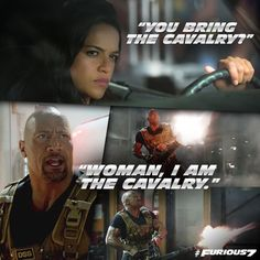 Woman I am the Calvary!! Haha, so funny. Love them both.