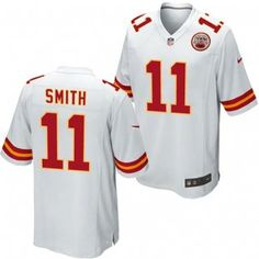 Kansas City Chiefs Nike NFL Alex Smith #11 Replica Game Jersey (White) Kansas City Chiefs Apparel, Nike Nfl, Sport Outfits, Game, Shopping, Tops, Fashion, Moda, Workout Outfits