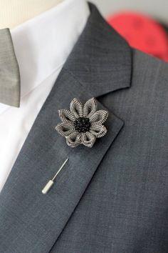 Men/'s Handmade Sun flower lapel Stick Broche Pin costume smoking bouquet boutonnière