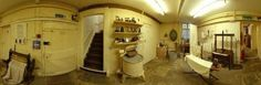 Panorama of a Victorian scullery with boiler and laundry, best I could find for laundry decor inspiration