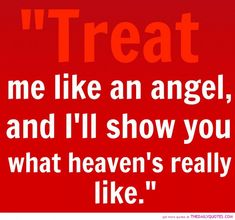 Strong Woman Quote About Life: Treat Me Like An Angel Quote On Red Theme Design ~ Mactoons Success Inspiration