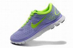 buy popular 33399 e6773 Nike Free 4.0 V2 Shoes Purple Fluorescent Green Womens 458955 Nike Mujer,  Mujeres Nike,