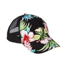 Xhilaration® Floral Baseball Hat - Black 81602cb9919d