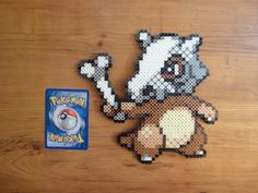 Cubone Pokemon Perler Bead Sprite by PokePerlers on Etsy