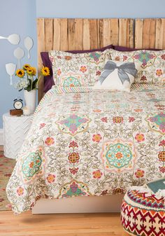 Carriage House Quilt Set in Full/Queen | Mod Retro Vintage Decor Accessories | ModCloth.com