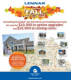 INTRODUCING... The Fall Spectacular Sales Event! Find your new home this fall - and enjoy the spectacular savings! For more- http://len.nr/1OnIocw