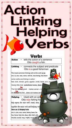 Students read a sentence and decide if the underlined word is an action, linking, or helping verb. Anchor Chart included to review the rules. This Types of Verbs Center Activity works great for small groups or independent literacy station work during guided reading.
