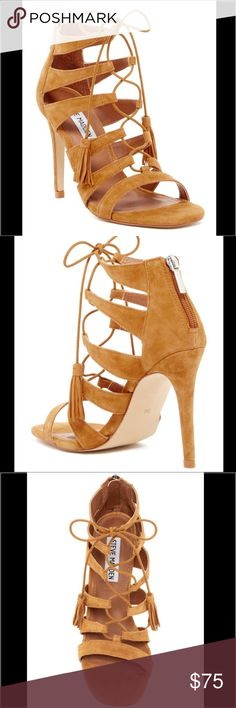 Steve Madden Sand Suede Lace Up Heel Brand new Steve Madden Sand Suede Lace Up Heel in Size 8. Trending style right now! Steve Madden Shoes Heels