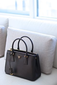 prada white handbag gloss