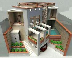 Sims 4 House Design, Tiny House Design, Modern House Design, Tiny House Layout, Layouts Casa, House Layouts, Building Design, Building A House, Sims Building