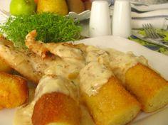 Kuracie prsia v omáčke z pečeného cesnaku Fresh Rolls, Poultry, Shrimp, Food And Drink, Meat, Chicken, Ethnic Recipes, Health And Fitness, Cooking