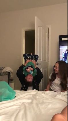 Kalani and Maddie playing with Jeff yesterday :)