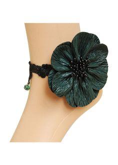 Floral Design Green Anklet By Returnfavors Visit http://www.returnfavors.com/floral-design-green-anklet-by-returnfavors/
