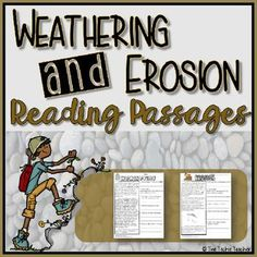 These are two different reading passages. One is about weathering and one is about erosion. Comprehension questions are open ended and students have to use the text to answer each question. Answer keys are included. Science Curriculum, Science Resources, Science Lessons, Science Education, Teaching Science, Science Activities, Science Ideas, Science Experiments, Teaching Ideas