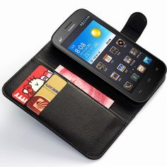 Luxury Litchi Pattern PU Leather Flip Case For Huawei Ascend G521 Wallet Cover With Card Slots Holder Free Shipping