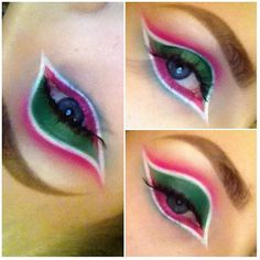 Amazing and adorable Stephelf created this festive cat eye using her Sugarpill Sweetheart and Heart Breaker palettes.