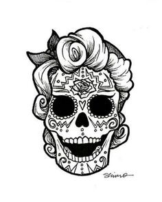 sugar skull coloring pages - Bing Images